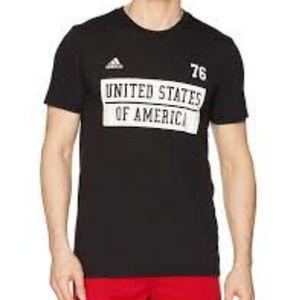 Adidas Black USA Tee Mens